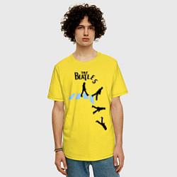 Футболка оверсайз мужская The Beatles: break down цвета желтый — фото 2