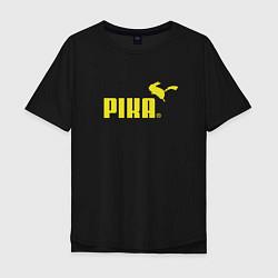 Футболка оверсайз мужская Пика цвета черный — фото 1