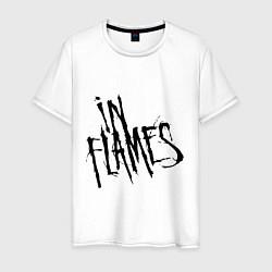 Футболка хлопковая мужская In Flames цвета белый — фото 1