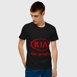 Футболка хлопковая мужская KIA цвета черный — фото 2