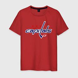 Футболка хлопковая мужская Washington Capitals цвета красный — фото 1