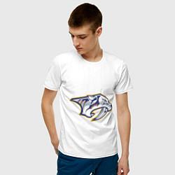 Футболка хлопковая мужская Nashville Predators цвета белый — фото 2