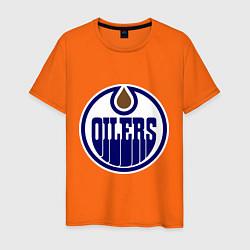 Футболка хлопковая мужская Edmonton Oilers цвета оранжевый — фото 1