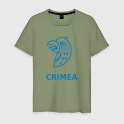 Футболка хлопковая мужская Crimea цвета авокадо — фото 1