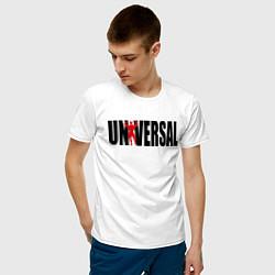 Футболка хлопковая мужская Universal bodybilding цвета белый — фото 2