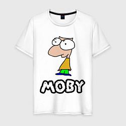 Футболка хлопковая мужская Moby цвета белый — фото 1