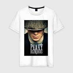 Футболка хлопковая мужская Peaky Blinders цвета белый — фото 1