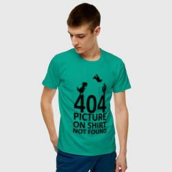 Футболка хлопковая мужская 404 цвета зеленый — фото 2