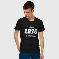 Футболка хлопковая мужская Limited Edition 1976 цвета черный — фото 2