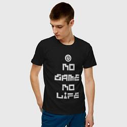 Футболка хлопковая мужская No game No life цвета черный — фото 2