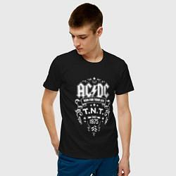 Мужская хлопковая футболка с принтом AC/DC: Run For Your Life, цвет: черный, артикул: 10147050300001 — фото 2