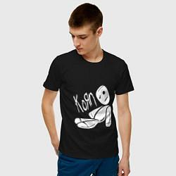 Футболка хлопковая мужская Korn Toy цвета черный — фото 2