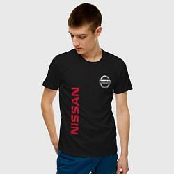 Футболка хлопковая мужская Nissan Style цвета черный — фото 2