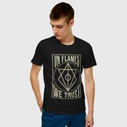 Футболка хлопковая мужская In Flames: We Trust цвета черный — фото 2