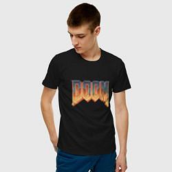 Футболка хлопковая мужская DOOM цвета черный — фото 2
