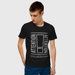 Футболка хлопковая мужская Attention Shinedown цвета черный — фото 2