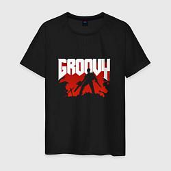 Футболка хлопковая мужская Evil Dead: Groovy цвета черный — фото 1