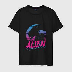 Футболка хлопковая мужская Alien: Retro Style цвета черный — фото 1