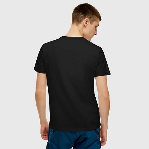 Мужская футболка Взлет единорога / Черный – фото 4