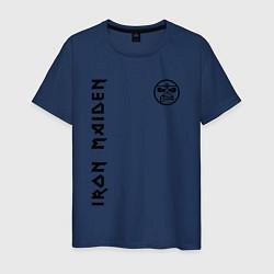 Футболка хлопковая мужская Iron Maiden Style цвета тёмно-синий — фото 1