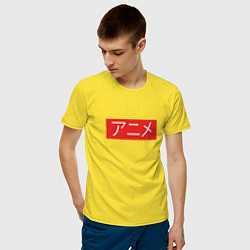 Футболка хлопковая мужская Anime Supreme цвета желтый — фото 2