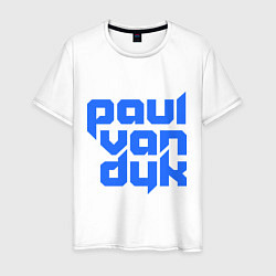 Футболка хлопковая мужская Paul van Dyk: Filled цвета белый — фото 1