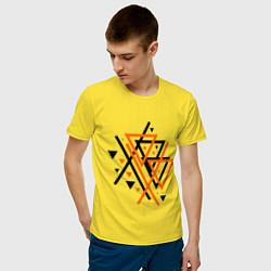 Футболка хлопковая мужская Paul van Dyk: Chaos цвета желтый — фото 2