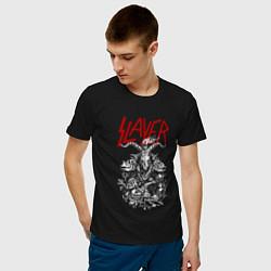 Мужская хлопковая футболка с принтом Slayer: Devil Goat, цвет: черный, артикул: 10156601900001 — фото 2