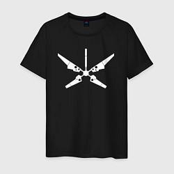 Футболка хлопковая мужская Радар цвета черный — фото 1
