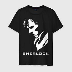 Футболка хлопковая мужская Sherlock Face цвета черный — фото 1
