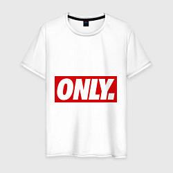 Футболка хлопковая мужская Only Obey цвета белый — фото 1