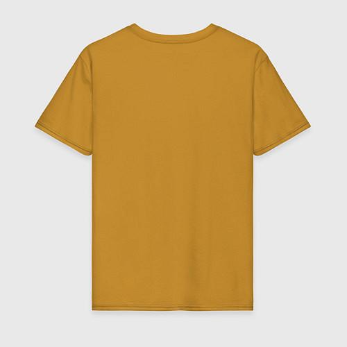 Мужская футболка The best man / Горчичный – фото 2