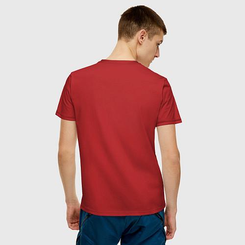 Мужская футболка Golden man / Красный – фото 4