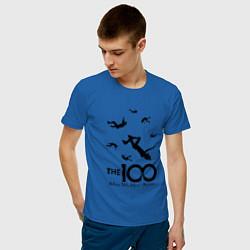 Футболка хлопковая мужская The 100 цвета синий — фото 2