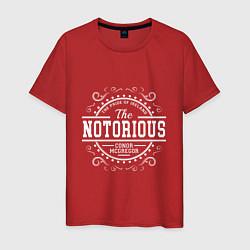 Мужская хлопковая футболка с принтом The Notorious King, цвет: красный, артикул: 10161412100001 — фото 1