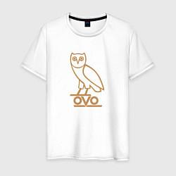 Футболка хлопковая мужская OVO Owl цвета белый — фото 1