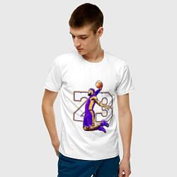 Мужская хлопковая футболка с принтом Леброн Джеймс, цвет: белый, артикул: 10169381700001 — фото 2