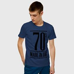 Футболка хлопковая мужская Made in the 70s цвета тёмно-синий — фото 2