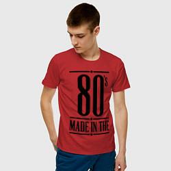 Футболка хлопковая мужская Made in the 80s цвета красный — фото 2