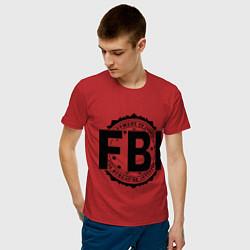 Футболка хлопковая мужская FBI Agency цвета красный — фото 2