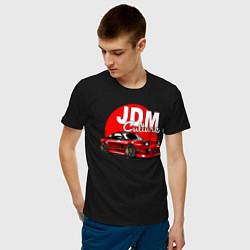 Футболка хлопковая мужская JDM Culture цвета черный — фото 2