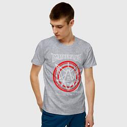 Футболка хлопковая мужская Математическая пентаграмма цвета меланж — фото 2
