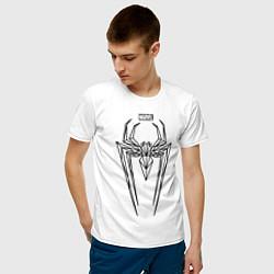 Мужская хлопковая футболка с принтом Black Spider-Man, цвет: белый, артикул: 10171924100001 — фото 2