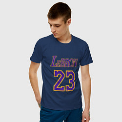 Мужская хлопковая футболка с принтом LeBron 23, цвет: тёмно-синий, артикул: 10172030500001 — фото 2