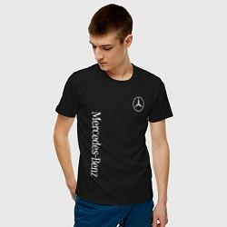 Футболка хлопковая мужская MERCEDES-BENZ цвета черный — фото 2