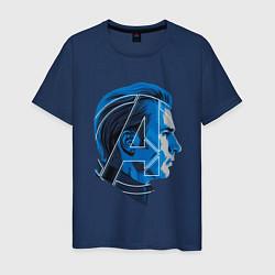 Футболка хлопковая мужская Captain America: Avengers цвета тёмно-синий — фото 1
