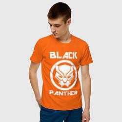 Футболка хлопковая мужская Черная пантера цвета оранжевый — фото 2
