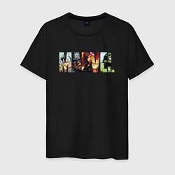 Футболка хлопковая мужская Marvel Comics цвета черный — фото 1