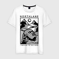 Футболка хлопковая мужская Northlane: I Refuse to die here цвета белый — фото 1