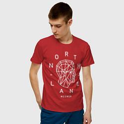 Футболка хлопковая мужская Northlane: Mesmer цвета красный — фото 2
